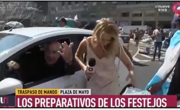 Escándalo, un auto atropelló a una cronista que se encontraba cubriendo el acto de Alberto Fernández