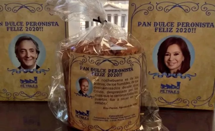 Furor por el pan dulce peronista en Plaza de Mayo