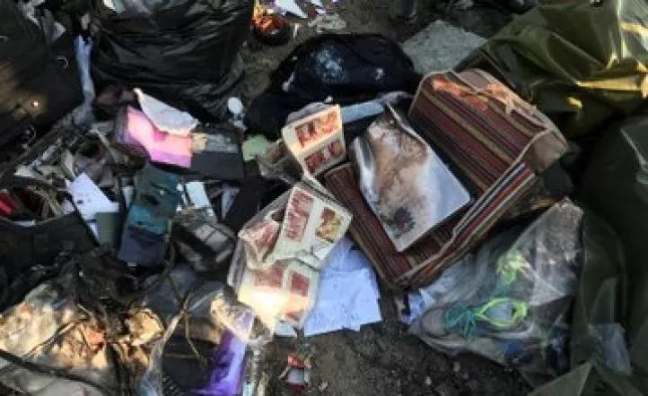 Las tremendas fotos del avión derribado en Teherán