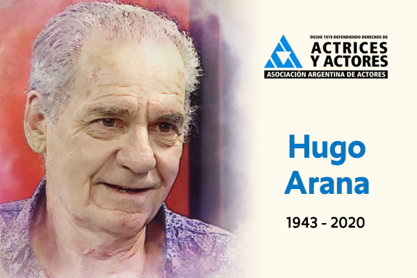 Triste noticia, murió Hugo Arana