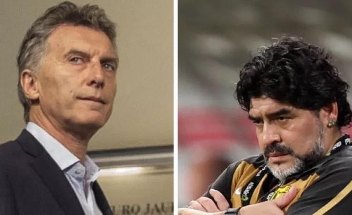 La picante respuesta de Maradona a Macri