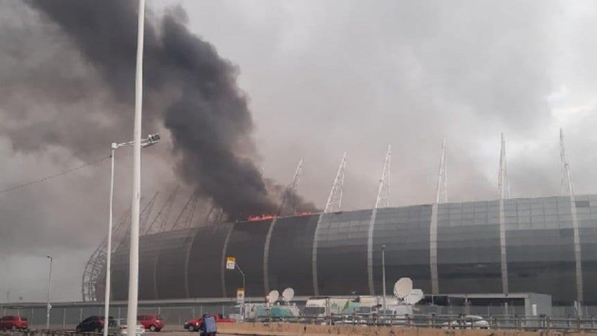 Se incendió uno de los estadios de Brasil 2014