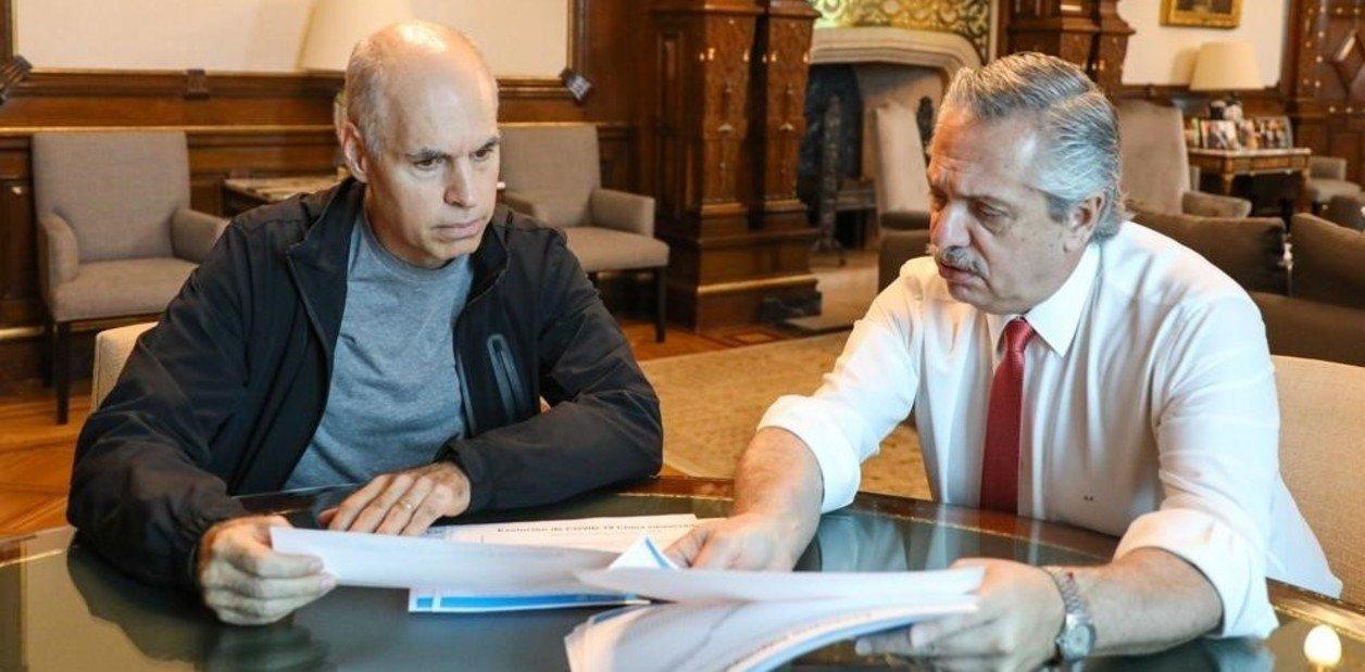 Alberto Fernández convocó a Larreta para llegar a un acuerdo por la coparticipación